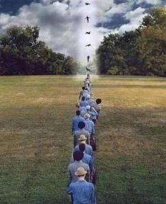 na fila
